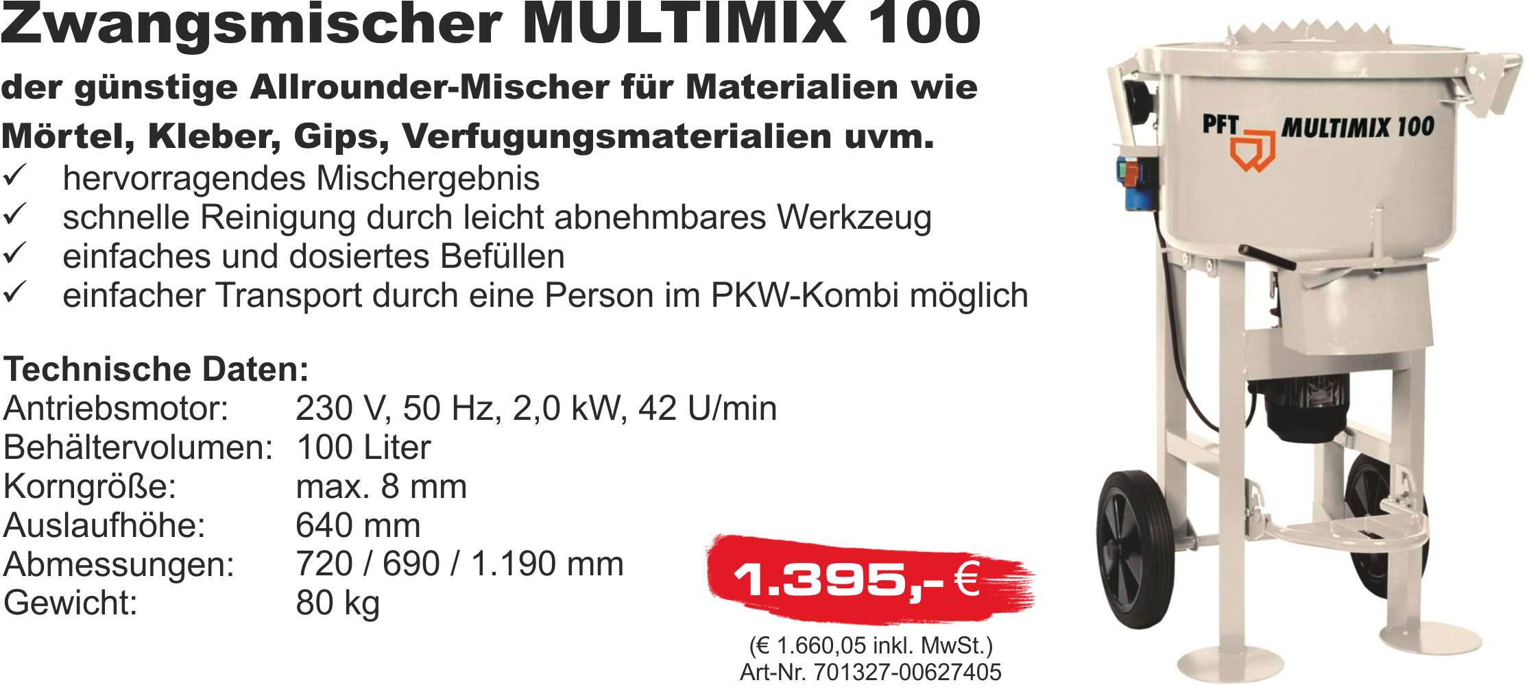 PFT Multimix 100