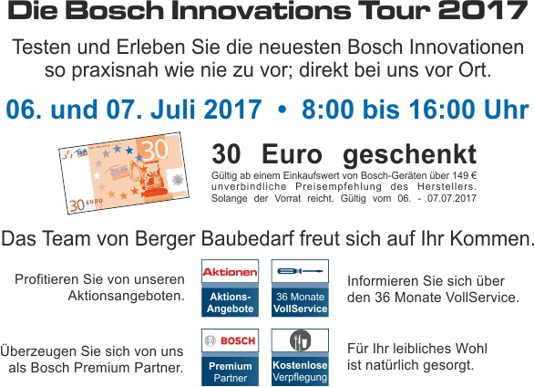 Bosch Innovations Tour
