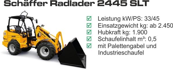 Radlader 2445 SLT mieten