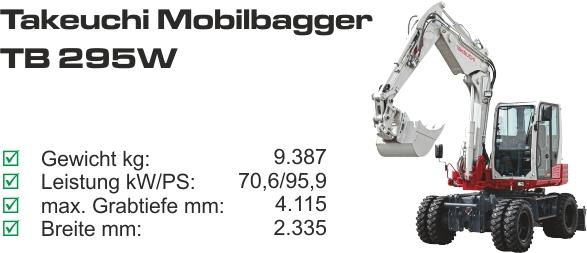 TB 295 W mieten
