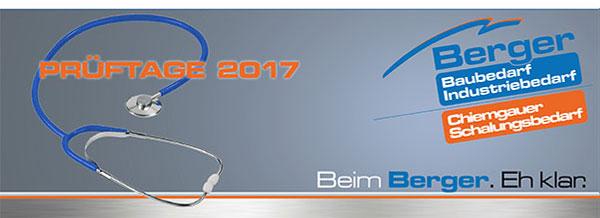 Berger Prüftage 2017
