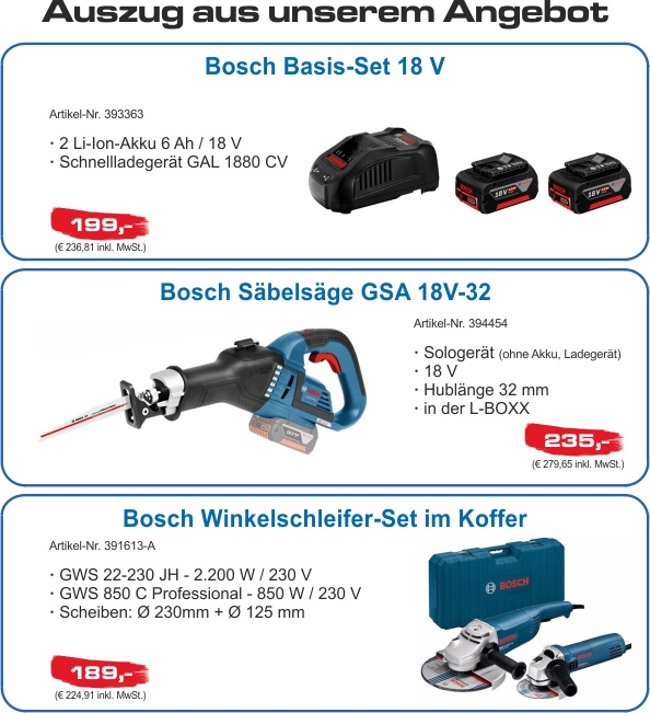 Bosch Innovationstour Aktion